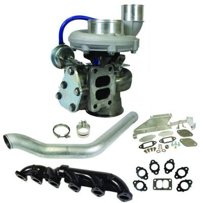 "Turbos & Twin Turbo Kits - Single ""Drop In"" Turbos - BD Diesel - BD Diesel Super B 650 Turbo Kit - Dodge 2007.5-2012 6.7L Cummins - S367/80 T3 0.80AR 1045142"