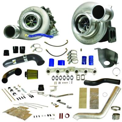 Turbos & Twin Turbo Kits - Compound Turbos - BD Diesel - BD Diesel RT700 Track Master Twin Turbo Kit - 2010-2012 Dodge 6.7L 1045481