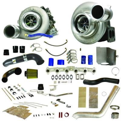 Turbos & Twin Turbo Kits - Compound Turbos - BD Diesel - BD Diesel RT850 Track Master Twin Turbo Kit - 2007.5-2009 Dodge 6.7L 1045482