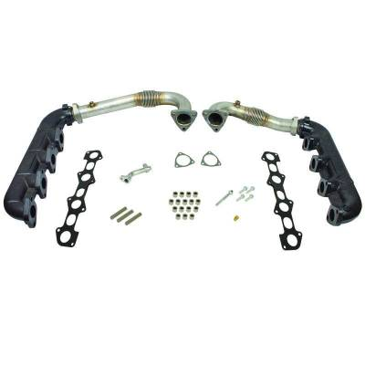 Exhaust Systems / Manifolds - Manifolds / Headers - BD Diesel - BD Diesel UpPipes - Exhaust Manifolds Kit - Ford 2008-2010 6.4L 1041481