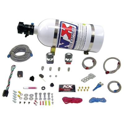 Water Methanol & Nitrous - Nitrous - Nitrous Express - Nitrous Express ALL DODGE EFI SINGLE NOZZLE SYSTEM (35-50-75-100-150 HP) WITH 10LB BOTTLE 20921-10