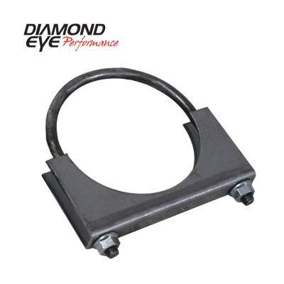 Exhaust Systems / Manifolds - Clamps & Adapters - Diamond Eye Performance - Diamond Eye Performance PERFORMANCE DIESEL EXHAUST PART-3.5in. STANDARD STEEL U-BOLT SADDLE CLAMP 444001
