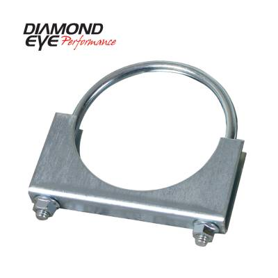 Exhaust Systems / Manifolds - Clamps & Adapters - Diamond Eye Performance - Diamond Eye Performance PERFORMANCE DIESEL EXHAUST PART-3.5in. ZINC COATED U-BOLT SADDLE CLAMP 454001