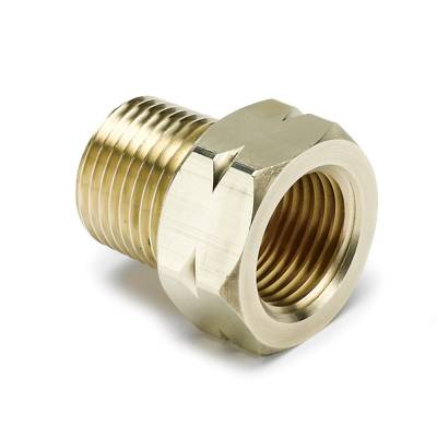 Auto Meter - Auto Meter Fitting; Adapter; 3/8in. NPT Male; Brass; for Auto Gage Mech. Temp. 2370