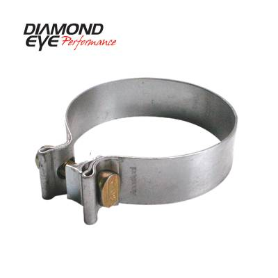 Exhaust Systems / Manifolds - Clamps & Adapters - Diamond Eye Performance - Diamond Eye Performance PERFORMANCE DIESEL EXHAUST PART-4in. ALUMINIZED TORCA BAND CLAMP BC400A
