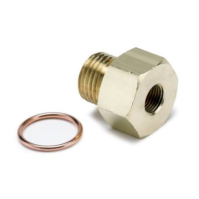 Auto Meter - Auto Meter Fitting; Adapter; Metric; M16x1.5 Male to 1/8in. NPTF Female; Brass 2268