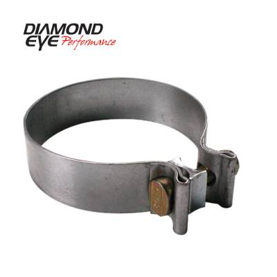 Exhaust Systems / Manifolds - Clamps & Adapters - Diamond Eye Performance - Diamond Eye Performance PERFORMANCE DIESEL EXHAUST PART-4in. 409 STAINLESS STEEL TORCA BAND CLAMP BC400S409