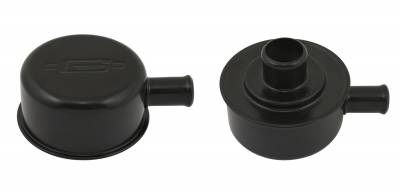 Mr Gasket - Mr Gasket BREATHER PCV FITTING FLAT BLK 2054BP