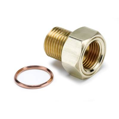 Gauges & Pods - IssPro - Auto Meter - Auto Meter Fitting; Adapter; M16x1.5 Male; Brass; for Mech. Temp. Gauge 2275