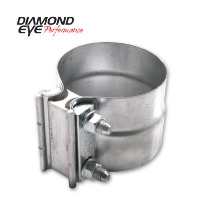 Exhaust Systems / Manifolds - Clamps & Adapters - Diamond Eye Performance - Diamond Eye Performance PERFORMANCE DIESEL EXHAUST PART-2.5in. ALUMINIZED TORCA LAP-JOINT CLAMP L25AA