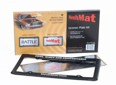 "Hushmat - Hushmat License Plate Kit - 4""X12"" Ultra Damping Pad w/frame&Silencer Megabond foam back 10600"