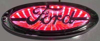 Lighting - Off Road Lighting / Light Bars - Race Sport - Race Sport 3D LED Logo Badge (Ford-Red) RS-3DLED-FORD-R
