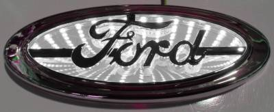 Race Sport - Race Sport 3D LED Logo Badge (Ford-White) RS-3DLED-FORD-W
