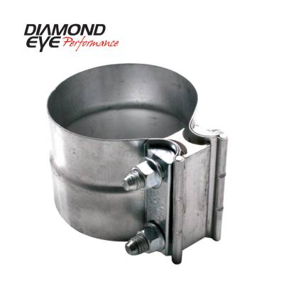 Exhaust Systems / Manifolds - Clamps & Adapters - Diamond Eye Performance - Diamond Eye Performance PERFORMANCE DIESEL EXHAUST PART-3.5in. 409 STAINLESS STEEL TORCA LAP-JOINT CLAMP L35SA