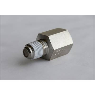 Auto Meter - Auto Meter Fitting; Snubber Adapter;-4AN Male to 1/8in. NPT Male; Steel; for Fuel Pressure 3279