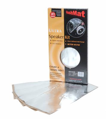 "Hushmat - Hushmat HushMat Ultra Speaker Kit (4) 6"" x 12""-Silver Foil 2 Sq. Ft. 10111"