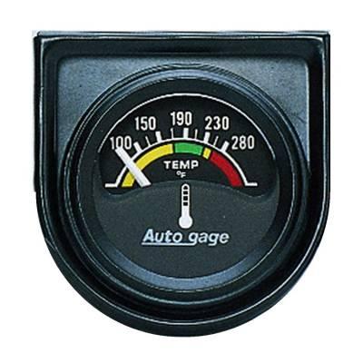 Gauges & Pods - IssPro - Auto Meter - Auto Meter Gauge Console; Water Temp; 1.5in.; 280deg. F; Elec; Blk Dial; Blk Bezel; AutoGag 2355