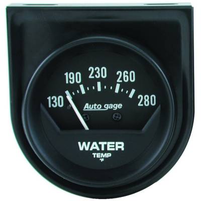 Gauges & Pods - IssPro - Auto Meter - Auto Meter Gauge Console; Water Temp; 2in.; 280deg. F; Mech; Short Sweep; Black; AutoGage 2361