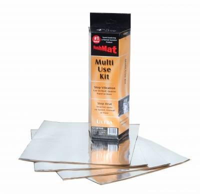 "Engine Parts & Performance - Cooling - Hushmat - Hushmat Ultra Insulating/Damping Material Multi Use Kit-(4) 12""x12""-Silver Foil 4 SqFt. 10151"