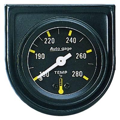 Gauges & Pods - IssPro - Auto Meter - Auto Meter Gauge Console; Water Temp; 1.5in.; 280deg. F; Mech; Blk Dial; Blk Bezel; AutoGag 2352
