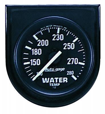 Gauges & Pods - IssPro - Auto Meter - Auto Meter Gauge Console; Water Temp; 2in.; 280deg. F; Blk Dial; Blk Bezel; AutoGage 2333