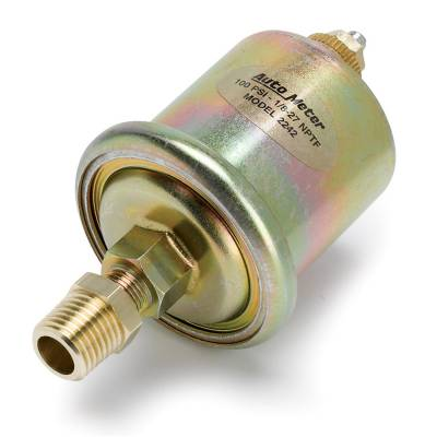 Engine Parts & Performance - Electrical / Glow Plugs - Auto Meter - Auto Meter Sensor; Oil Pressure; 0-100psi; 1/8in. NPT Male; for Short Sweep Elec. 2242