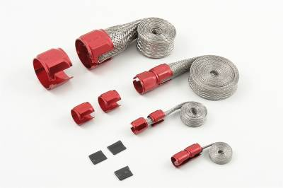 Mr Gasket - Mr Gasket BRAIDED HOSE SLEEVE KIT-RED 8090