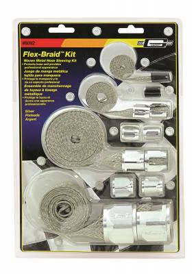 Mr Gasket - Mr Gasket BRAIDED HOSE SLEEVE KIT-SILV 8092