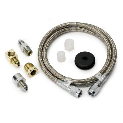 Suspension - Steering - Auto Meter - Auto Meter Line; Braided Stainless Steel; #3 Dia.; 3ft. Length;-3AN and 1/8in. NPTF fitting 3234