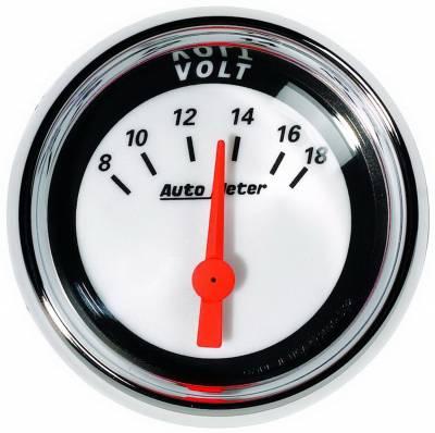 Auto Meter - Auto Meter 2-1/16in. VOLTMETER; 8-18 VOLTS; SSE; MCX 1192