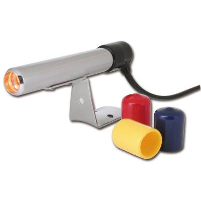 Shop by Category - Interior Accessories - Auto Meter - Auto Meter Shift Light; Amber LED; Pedestal; Chrome; Quick-Lite 5329