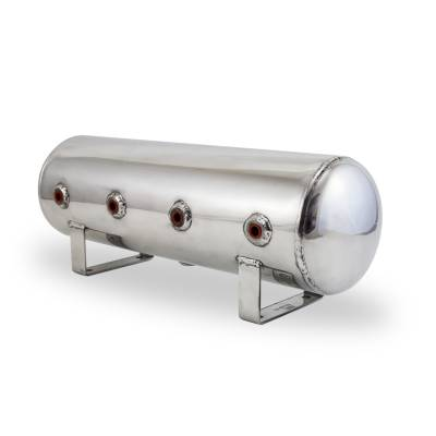 Air Lift Performance - Air Lift Performance 2.5 Gallon Aluminum Air Tank;  (4) 1/4'' face ports; 6'' D X 20'' L 12958