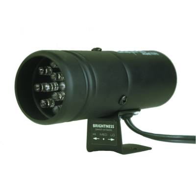 Shop by Category - Interior Accessories - Auto Meter - Auto Meter Shift Light; 12 Amber LED; Pedestal; Black; Super-Lite 5332