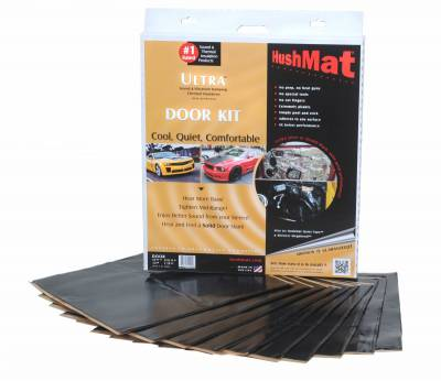 "Hushmat - Hushmat Ultra Insulating/Damping Material Door Kit(10) 12""x12""-Stealth Black Foil 10SqFt 10200"