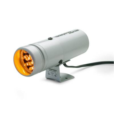 Shop by Category - Interior Accessories - Auto Meter - Auto Meter Shift Light; 12 Amber LED; Pedestal; Silver; Super-Lite 5333