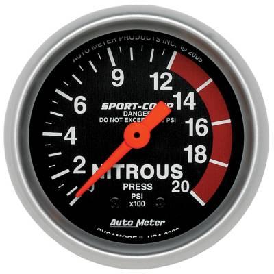 Water Methanol & Nitrous - Nitrous - Auto Meter - Auto Meter Gauge; Nitrous Pressure; 2 1/16in.; 2000psi; Mechanical; Sport-Comp 3328
