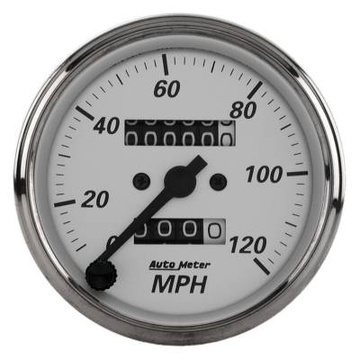 Gauges & Pods - Digital Gauges - Auto Meter - Auto Meter Gauge; Speedometer; 3 1/8in.; 120mph; Mechanical; American Platinum 1993