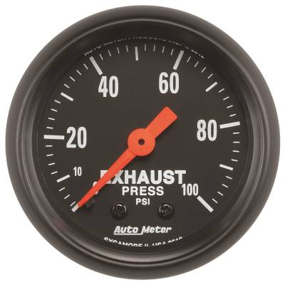 Gauges & Pods - Digital Gauges - Auto Meter - Auto Meter Gauge; Exhaust Press; 2 1/16in.; 100psi; Mechanical; Z Series 2619