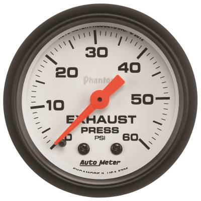 Gauges & Pods - Digital Gauges - Auto Meter - Auto Meter Gauge; Exhaust Press; 2 1/16in.; 60psi; Mechanical; Phantom 5725