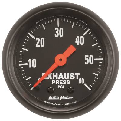 Gauges & Pods - Digital Gauges - Auto Meter - Auto Meter Gauge; Exhaust Press; 2 1/16in.; 60psi; Mechanical; Z Series 2611