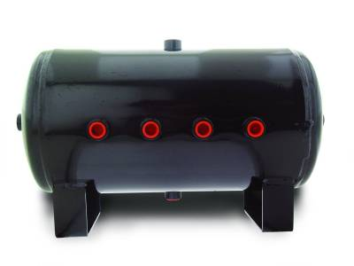 Air Lift Performance - Air Lift Performance 5 Gallon Air Tank;  (8) 1/2'' ports; 12 1/2''H x 20'' L; DOT Approved 10991