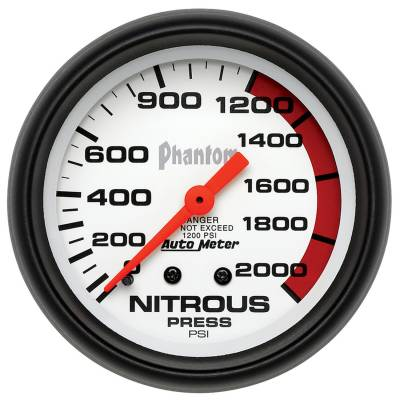 Water Methanol & Nitrous - Nitrous - Auto Meter - Auto Meter Gauge; Nitrous Pressure; 2 5/8in.; 2000psi; Mechanical; Phantom 5828
