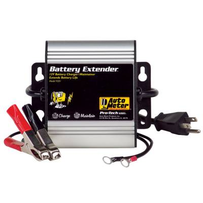 Auto Meter - Auto Meter Battery Charger/Maintainer; 12V/16V; 1A charge/250mA maintain; Batt Extndr 9202