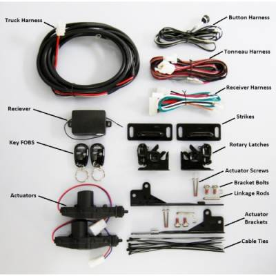 Pop & Lock - Pop & Lock Pop & Lock Tonneau Cover Tailgate Lock Assembly PL9000