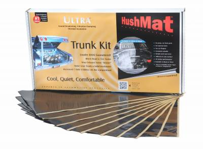 "08-10 6.4L Power Stroke - Interior Accessories - Hushmat - Hushmat Ultra Insulating/Damping Material Trunk Kit (10)12""x23"" Black Foil 19.1SqFt 10300"