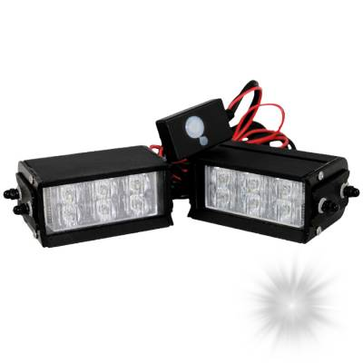 Exterior Accessories - Towing/Pulling & Cargo - Oracle Lighting - Oracle Lighting ORACLE Dual 6 LED Interceptor Strobe - White 3501-001