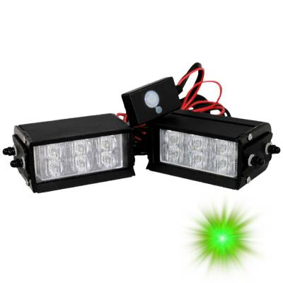 Exterior Accessories - Brakes - Oracle Lighting - Oracle Lighting ORACLE Dual 6 LED Interceptor Strobe - Green 3501-004