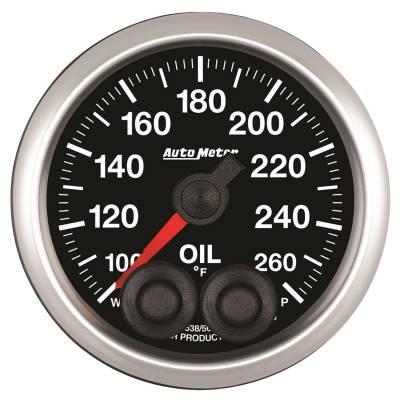 Auto Meter - Auto Meter 2-1/16in. OIL TEMP; 100-260F; COMP 5538