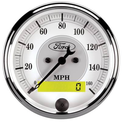 Gauges & Pods - Digital Gauges - Auto Meter - Auto Meter Gauge; Speedometer; 3 1/8in.; 120mph; Elec. Prog. w/LCD Odo; Ford Masterpiece 880355