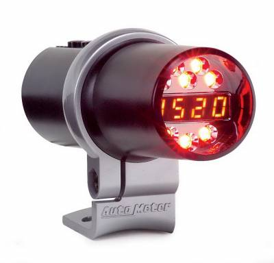Shop by Category - Interior Accessories - Auto Meter - Auto Meter Shift Light; Digital w/Multi-Color LED; Black; Pedestal Mount; DPSS Level 2 5348